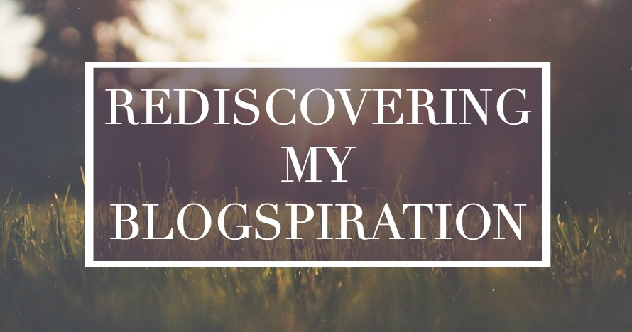 Blog Changes and Rediscovering My Blogspiration